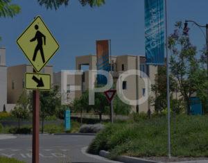 Pedestrian Crossing Sign in Great Park, Irvine California